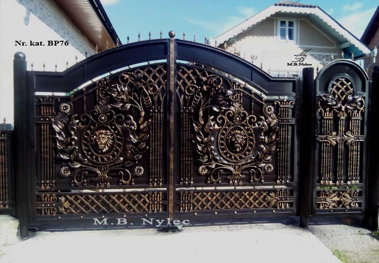 brama pełna z lwami bp76